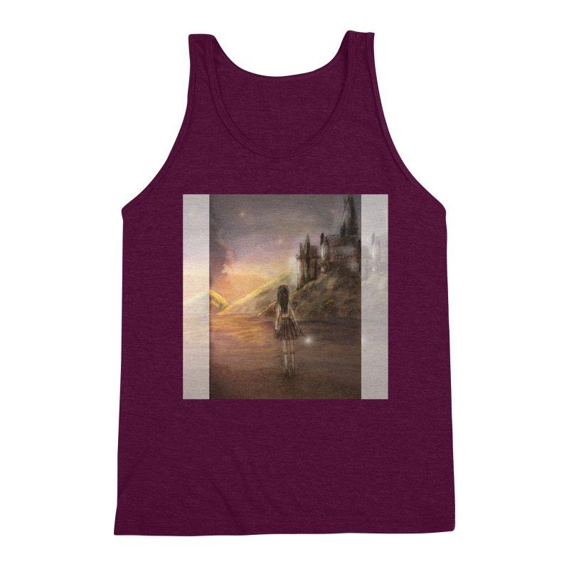 Hogwarts Is Our Home Men's Triblend Tank by Deanna Kei's Artist Shop