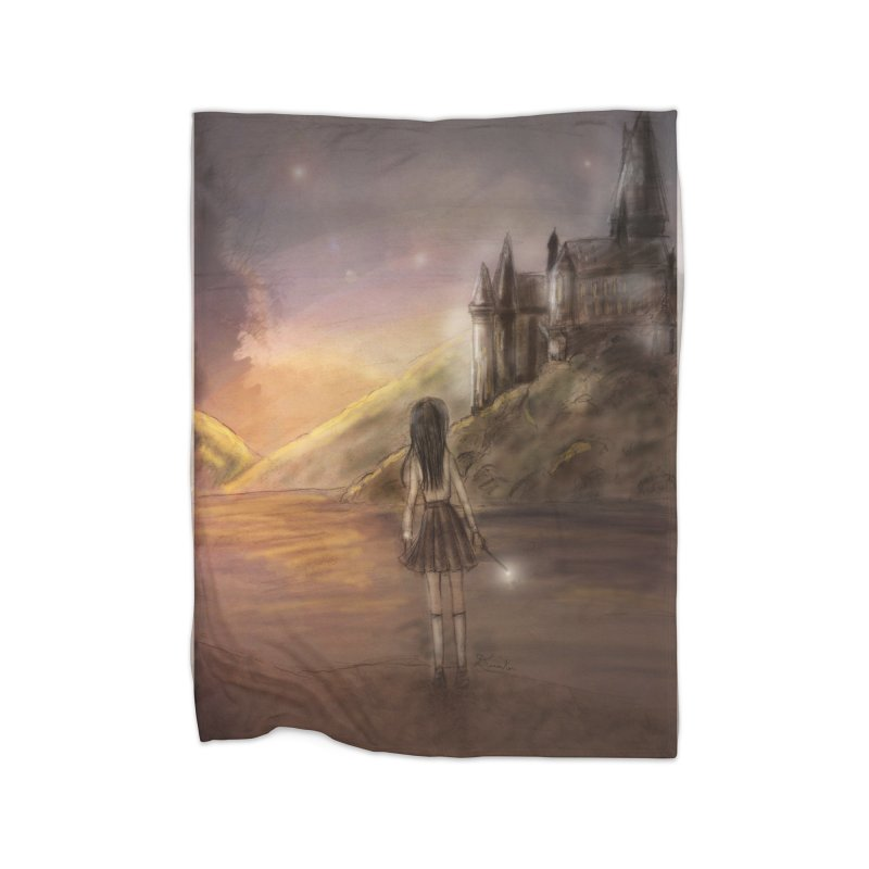 Hogwarts Is Our Home Home Fleece Blanket Blanket by Deanna Kei's Artist Shop