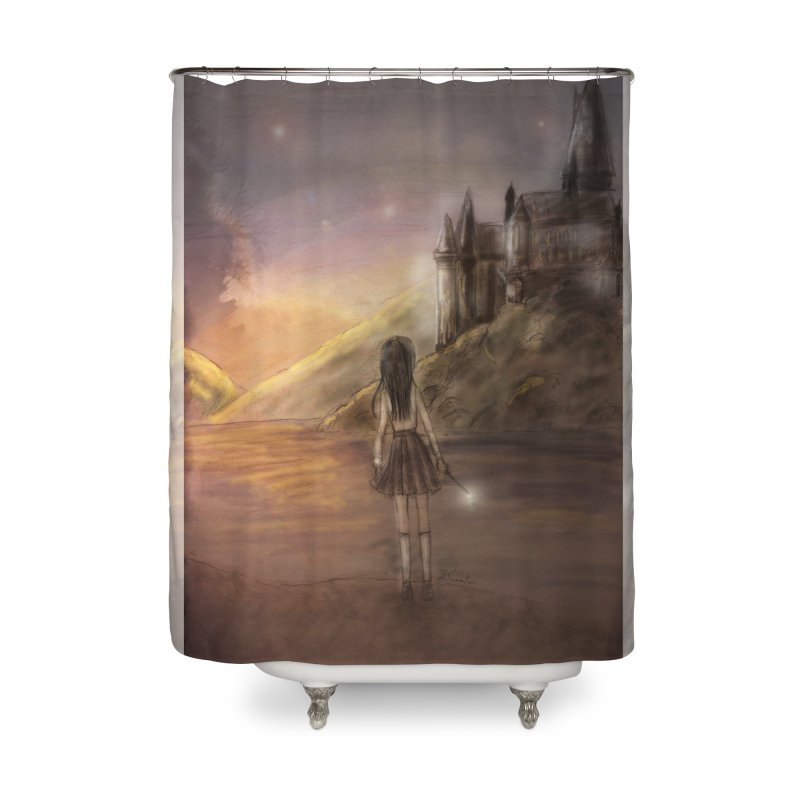 Hogwarts Is Our Home Home Shower Curtain by Deanna Kei's Artist Shop
