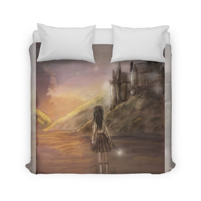 Hogwarts Is Our Home Home Duvet by Deanna Kei's Artist Shop