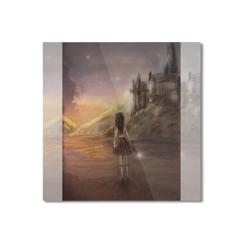 Hogwarts Is Our Home Home Mounted Aluminum Print by Deanna Kei's Artist Shop