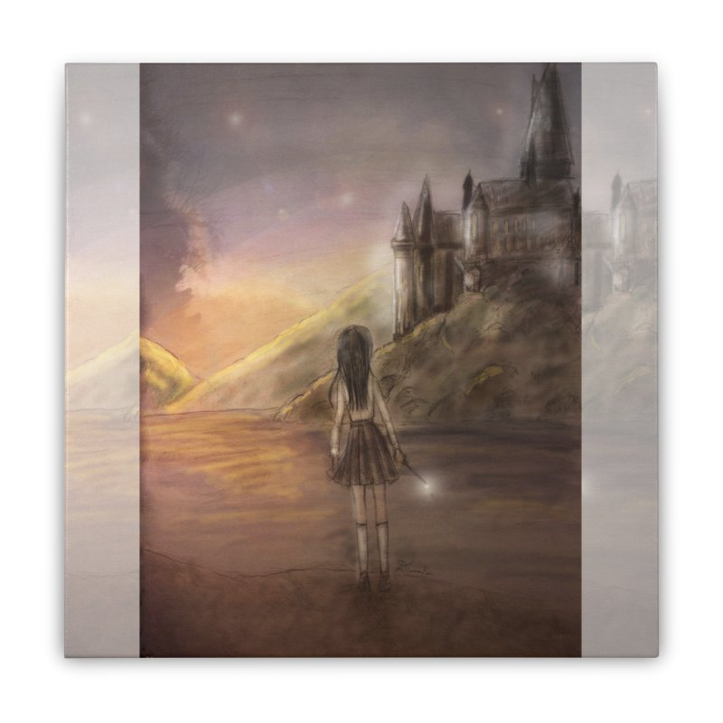 Hogwarts Is Our Home Home Stretched Canvas by Deanna Kei's Artist Shop