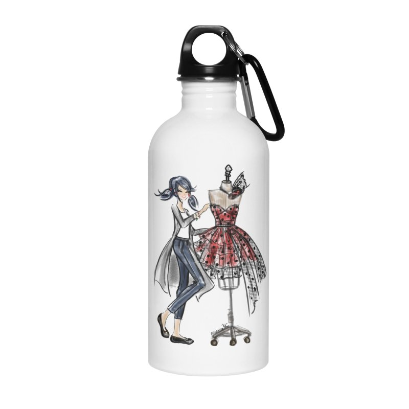 Ladybug Fashion Accessories Water Bottle by Deanna Kei's Artist Shop