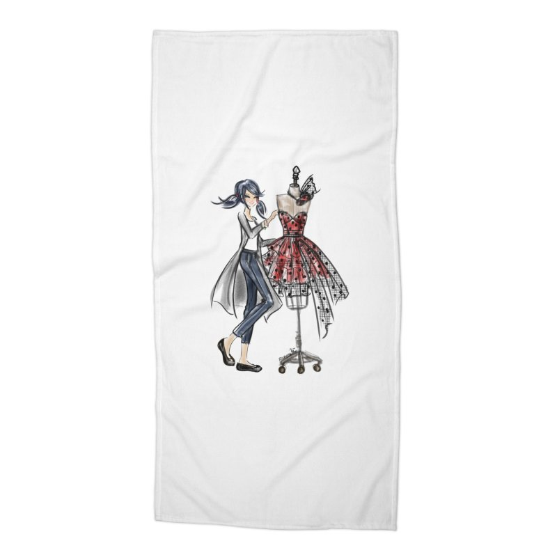 Ladybug Fashion Accessories Beach Towel by Deanna Kei's Artist Shop