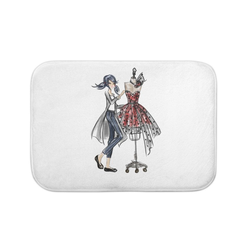 Ladybug Fashion Home Bath Mat by Deanna Kei's Artist Shop