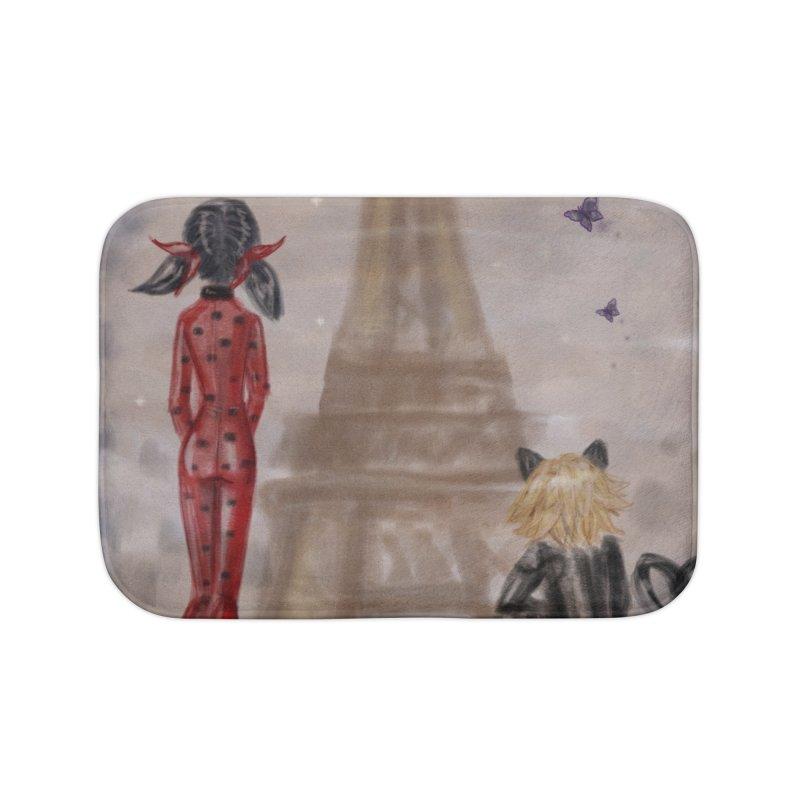 Ladybug and Cat Noir Rendevous Home Bath Mat by deannakei's Artist Shop