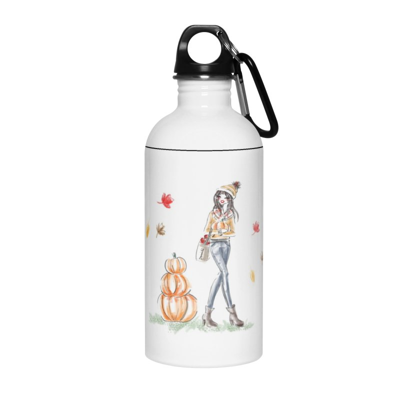 Fall Pumpkin Girl Accessories Water Bottle by deannakei's Artist Shop