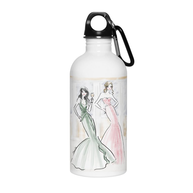 Champage ladies Accessories Water Bottle by deannakei's Artist Shop