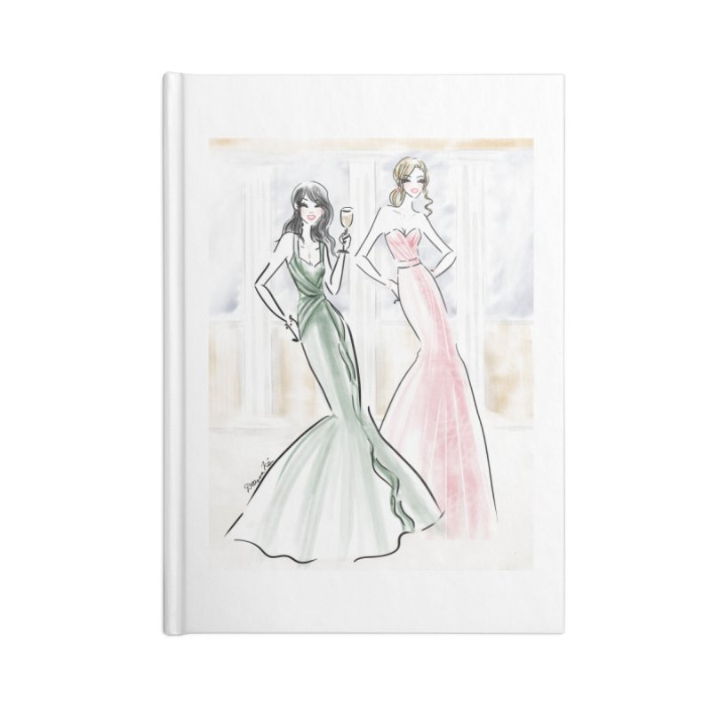 Champage ladies Accessories Blank Journal Notebook by deannakei's Artist Shop