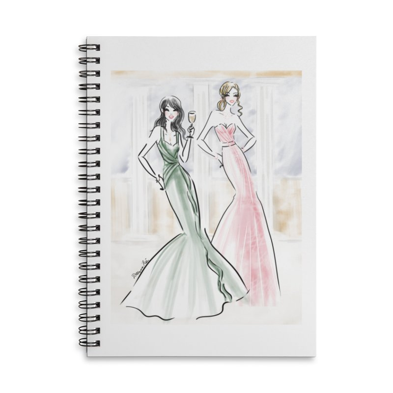 Champage ladies Accessories Lined Spiral Notebook by deannakei's Artist Shop