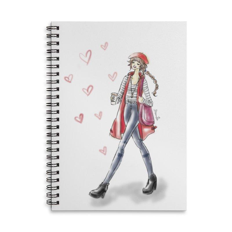 Valentines Date Accessories Lined Spiral Notebook by deannakei's Artist Shop