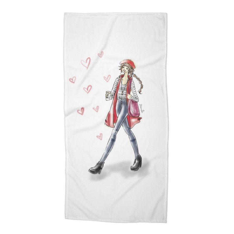 Valentines Date Accessories Beach Towel by Deanna Kei's Artist Shop