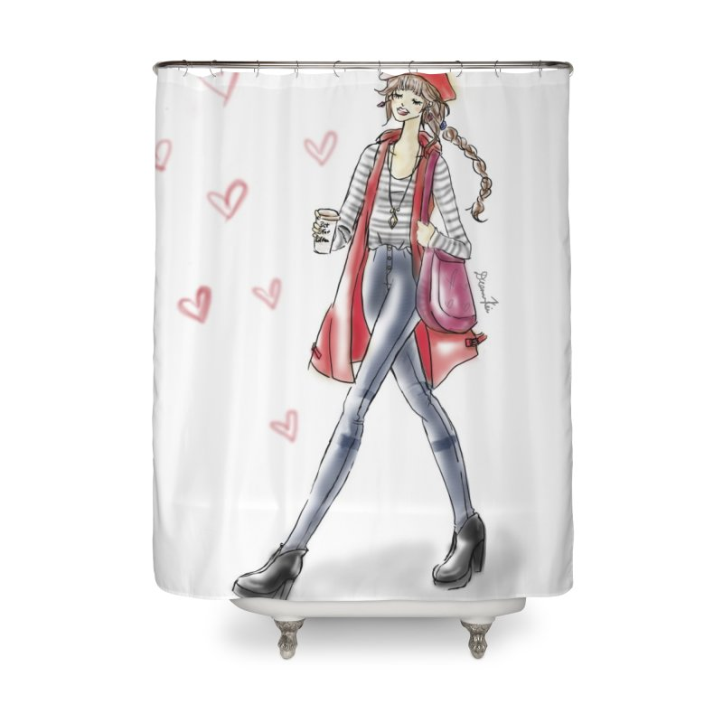 Valentines Date Home Shower Curtain by Deanna Kei's Artist Shop