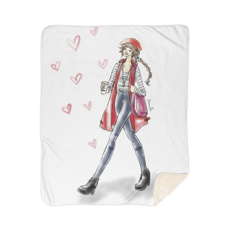 Valentines Date Home Sherpa Blanket Blanket by Deanna Kei's Artist Shop