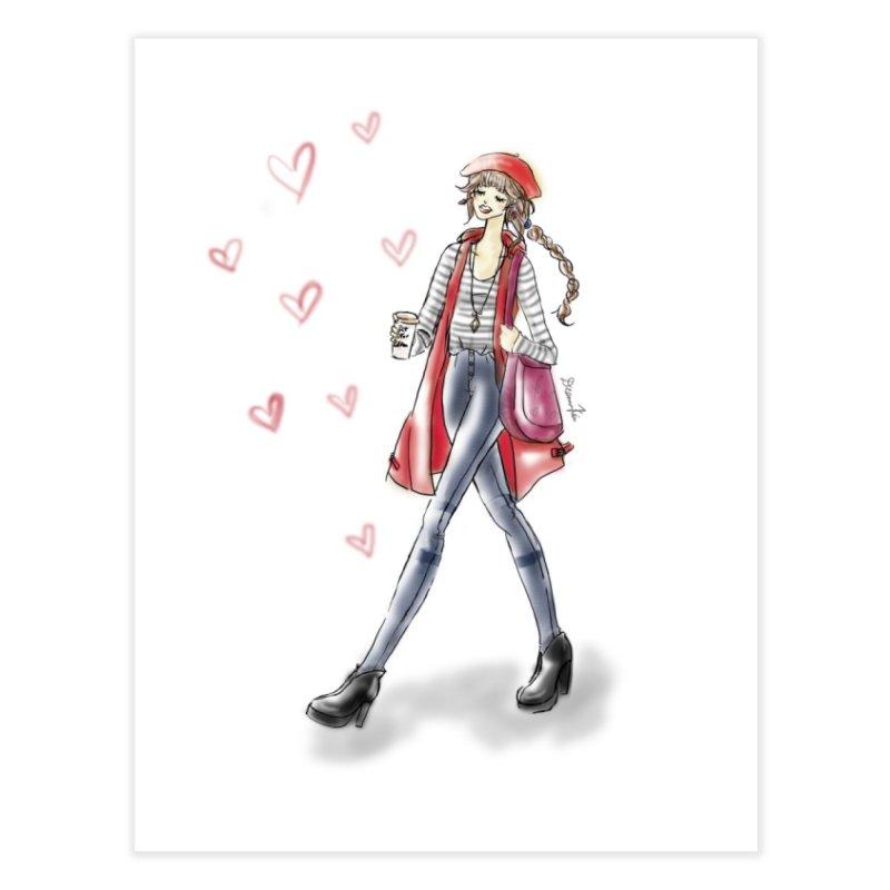 Valentines Date Home Fine Art Print by Deanna Kei's Artist Shop
