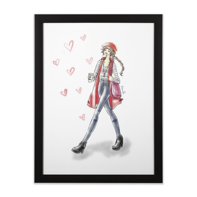 Valentines Date Home Framed Fine Art Print by deannakei's Artist Shop