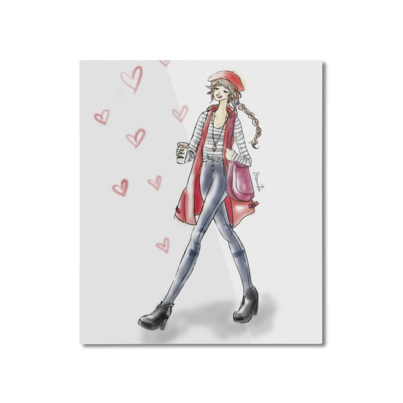 Valentines Date Home Mounted Aluminum Print by deannakei's Artist Shop