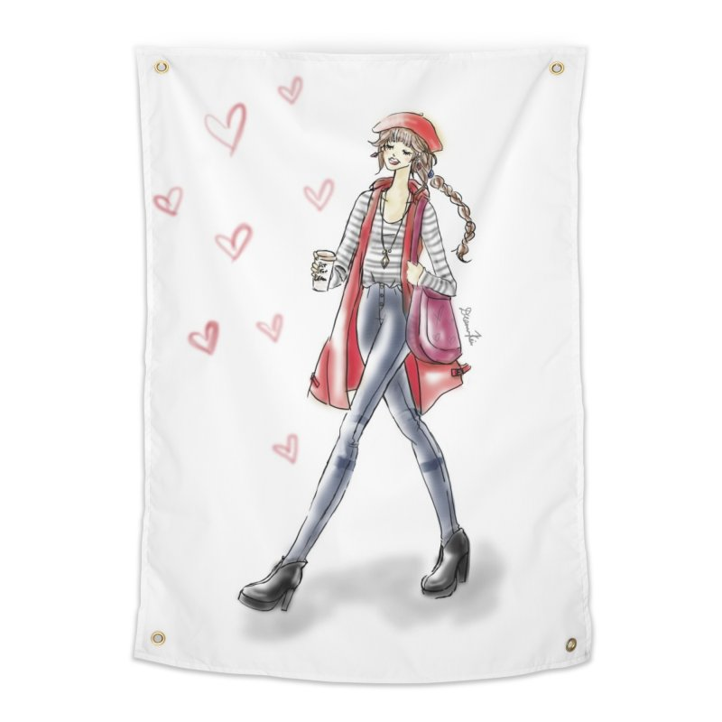 Valentines Date Home Tapestry by Deanna Kei's Artist Shop