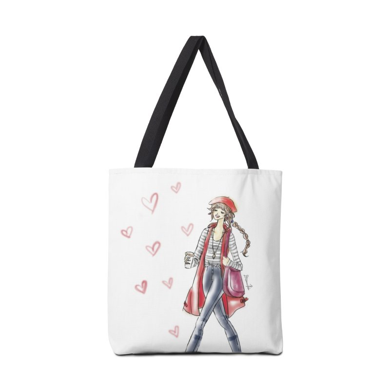 Valentines Date in Tote Bag by Deanna Kei's Artist Shop