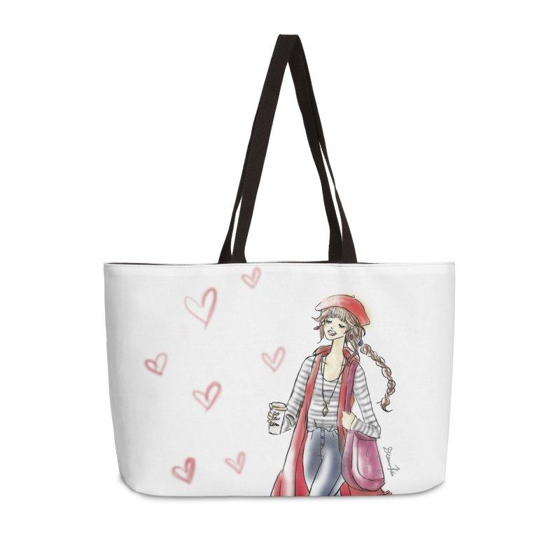 Valentines Date in Weekender Bag by Deanna Kei's Artist Shop