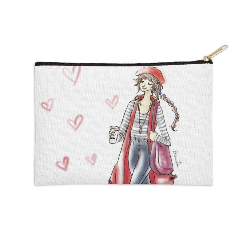 Valentines Date Accessories Zip Pouch by deannakei's Artist Shop