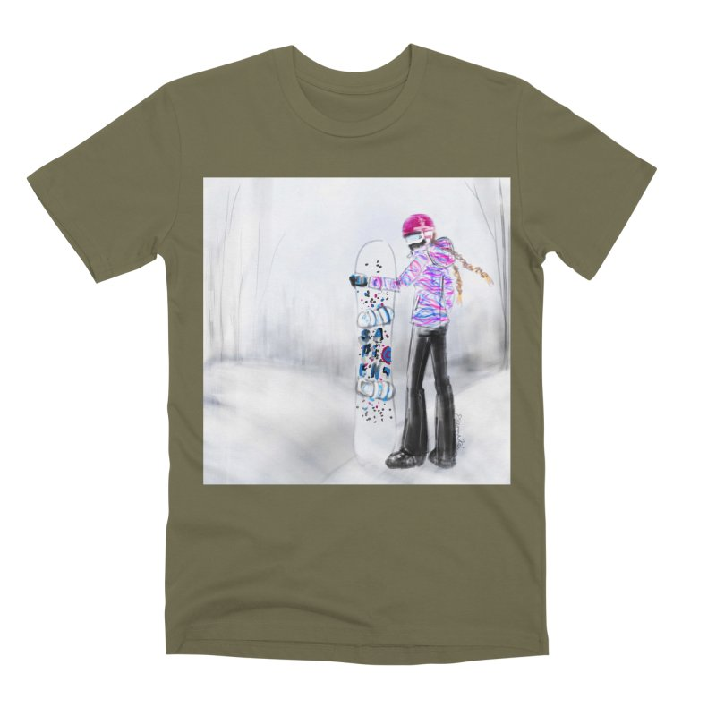 Snowboarder Girl Men's Premium T-Shirt by deannakei's Artist Shop