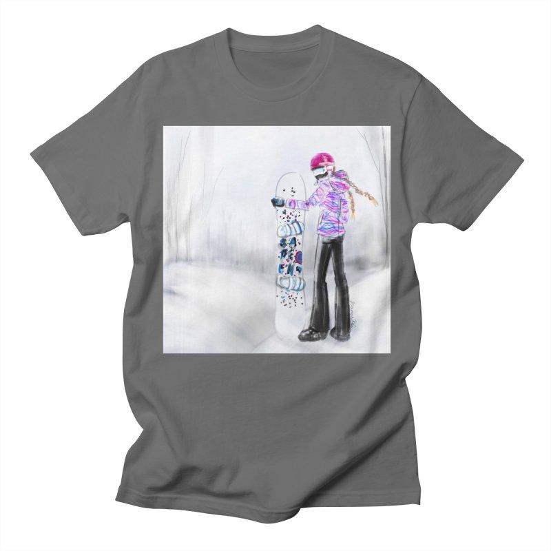 Snowboarder Girl Men's T-Shirt by deannakei's Artist Shop