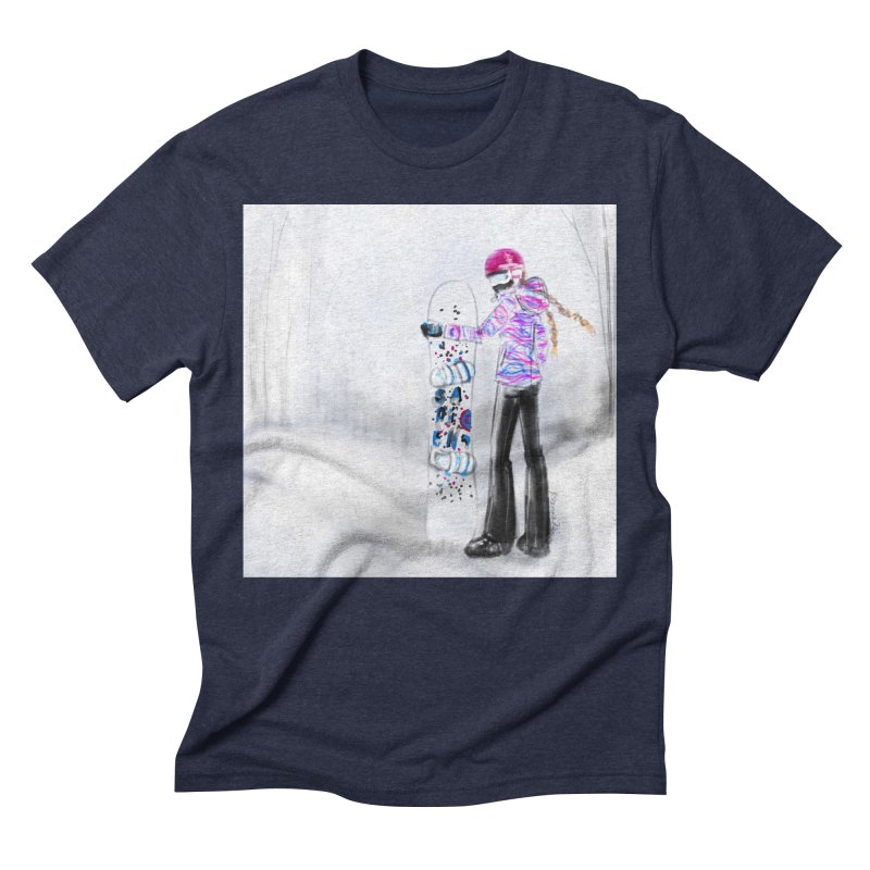 Snowboarder Girl Men's Triblend T-Shirt by deannakei's Artist Shop