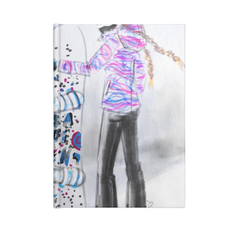 Snowboarder Girl Accessories Blank Journal Notebook by deannakei's Artist Shop