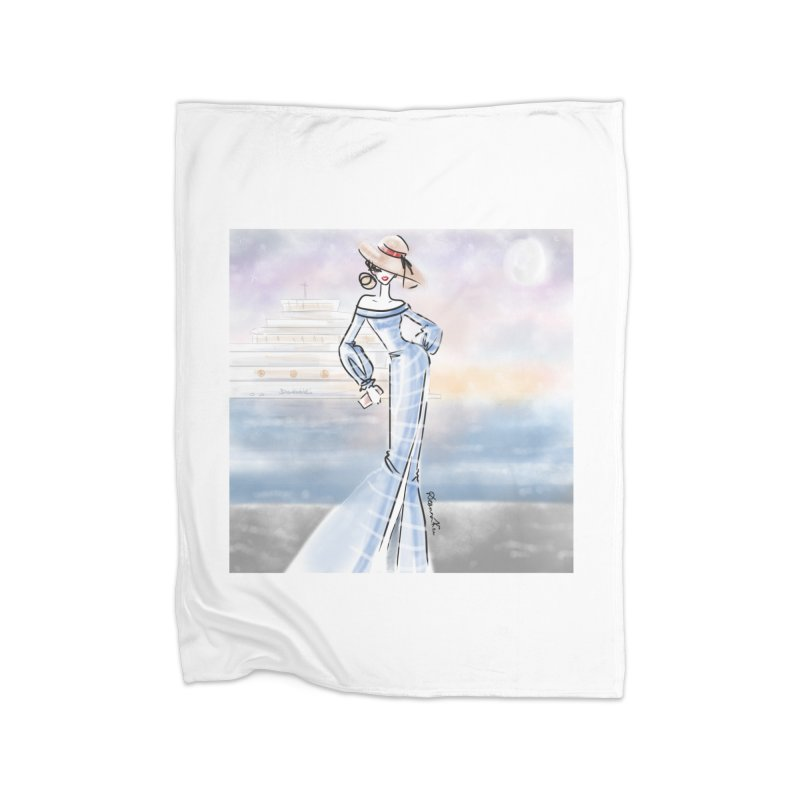 Cruise Lady Home Blanket by deannakei's Artist Shop