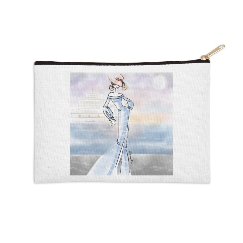 Cruise Lady Accessories Zip Pouch by deannakei's Artist Shop