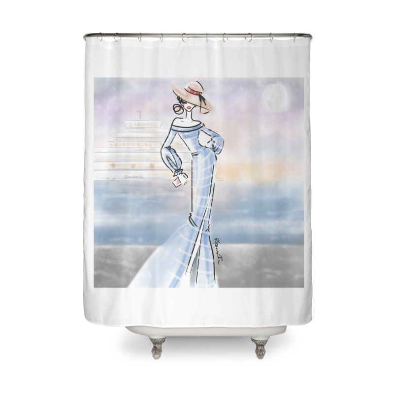 Cruise Lady Home Shower Curtain by deannakei's Artist Shop