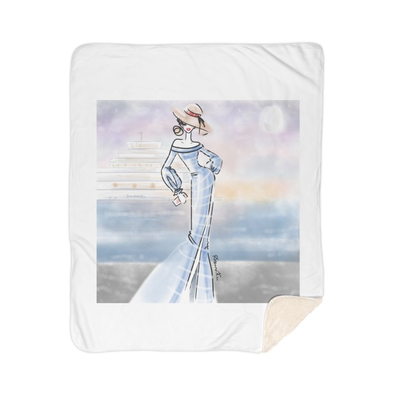 Cruise Lady Home Sherpa Blanket Blanket by deannakei's Artist Shop