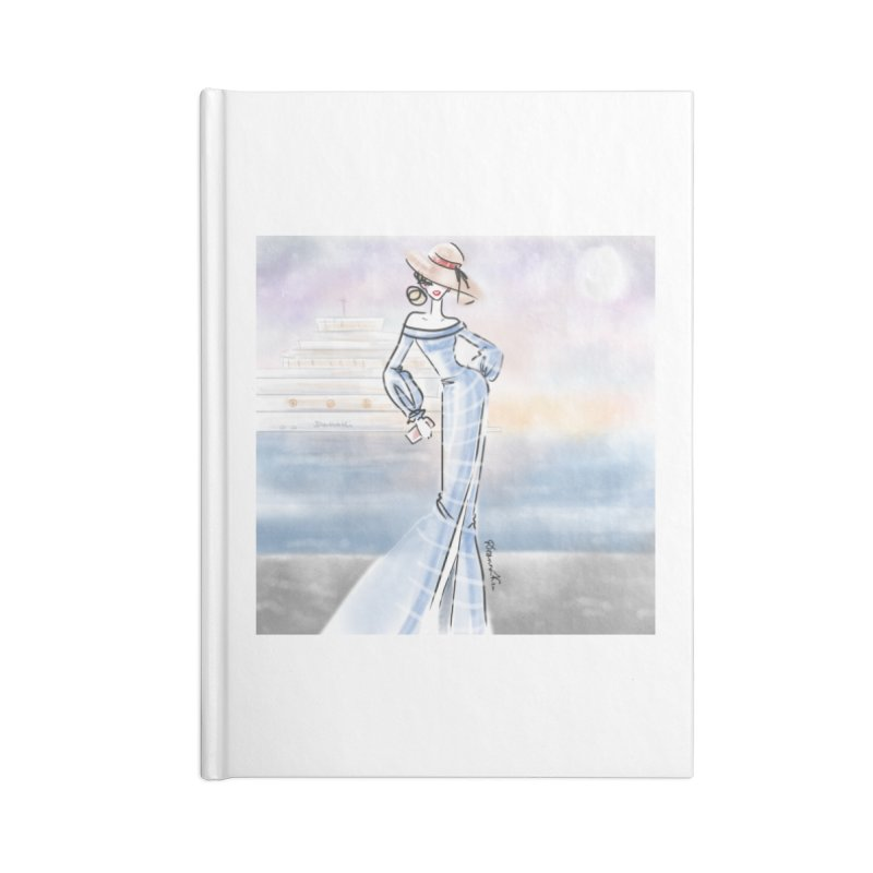 Cruise Lady Accessories Lined Journal Notebook by deannakei's Artist Shop