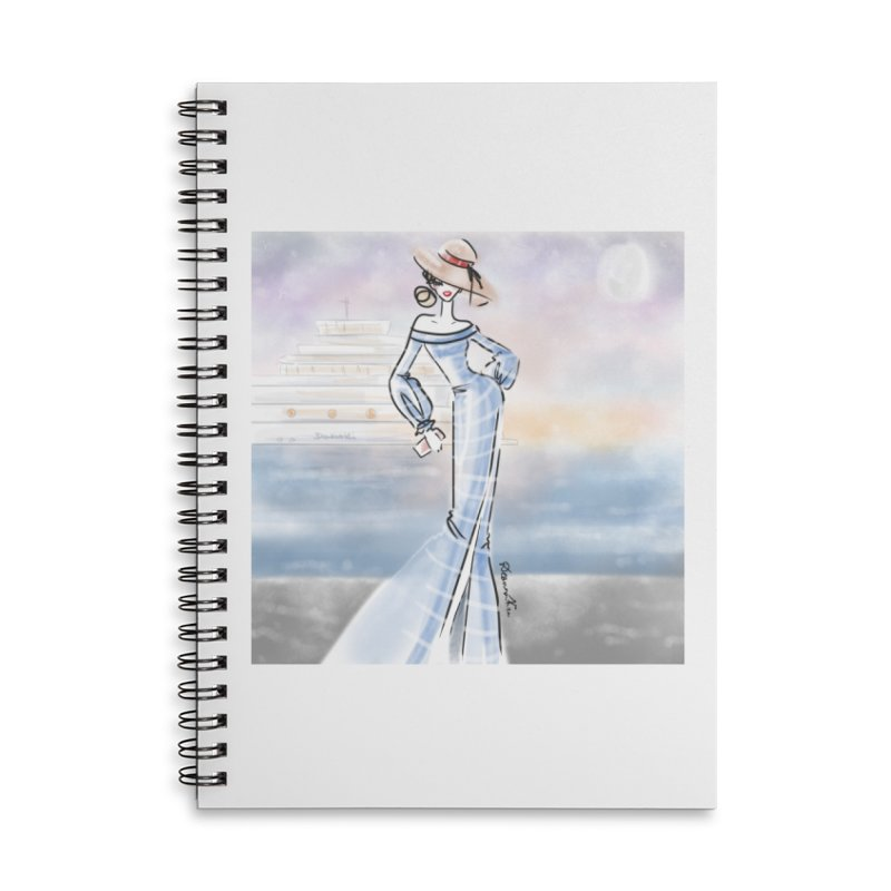 Cruise Lady Accessories Lined Spiral Notebook by deannakei's Artist Shop