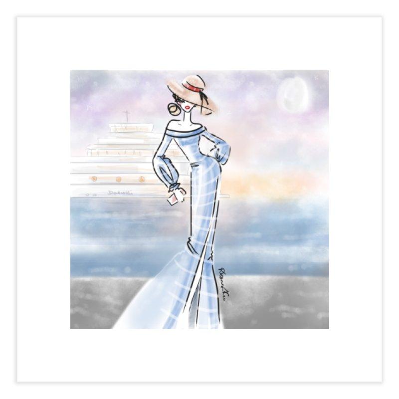 Cruise Lady Home Fine Art Print by deannakei's Artist Shop