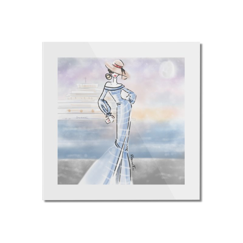 Cruise Lady Home Mounted Acrylic Print by deannakei's Artist Shop