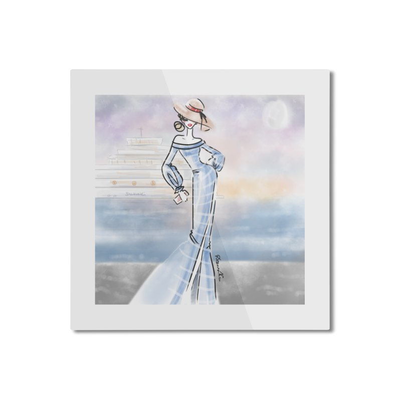 Cruise Lady Home Mounted Aluminum Print by deannakei's Artist Shop