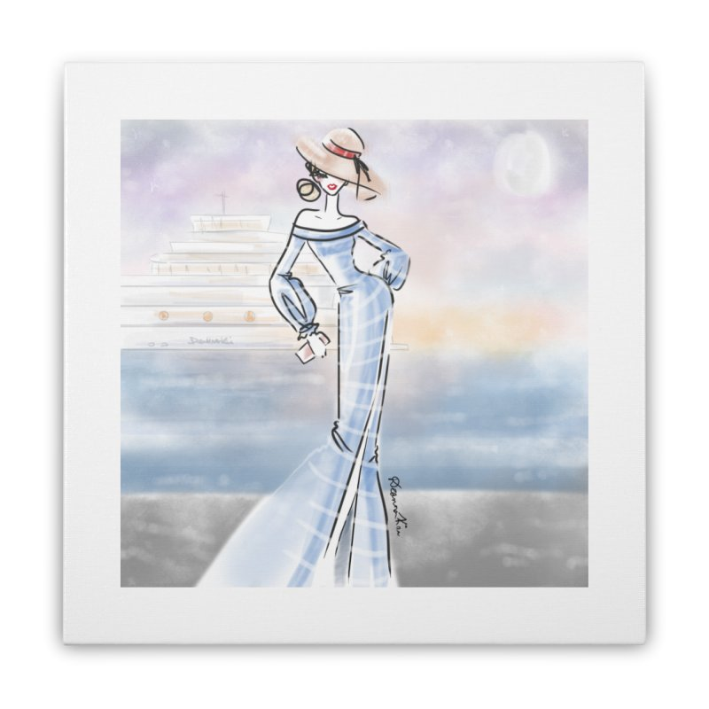 Cruise Lady Home Stretched Canvas by deannakei's Artist Shop