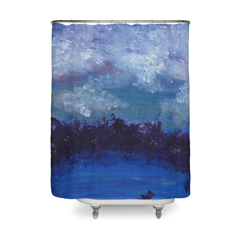 Midnight Lake Home Shower Curtain by deannakei's Artist Shop