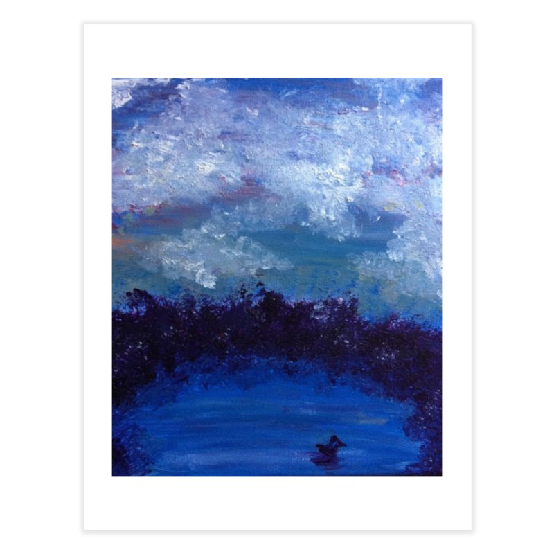 Midnight Lake Home Fine Art Print by deannakei's Artist Shop