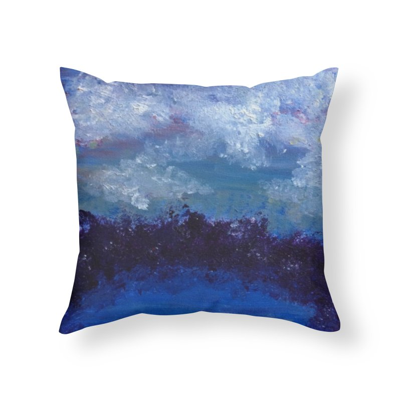 Midnight Lake Home Throw Pillow by deannakei's Artist Shop