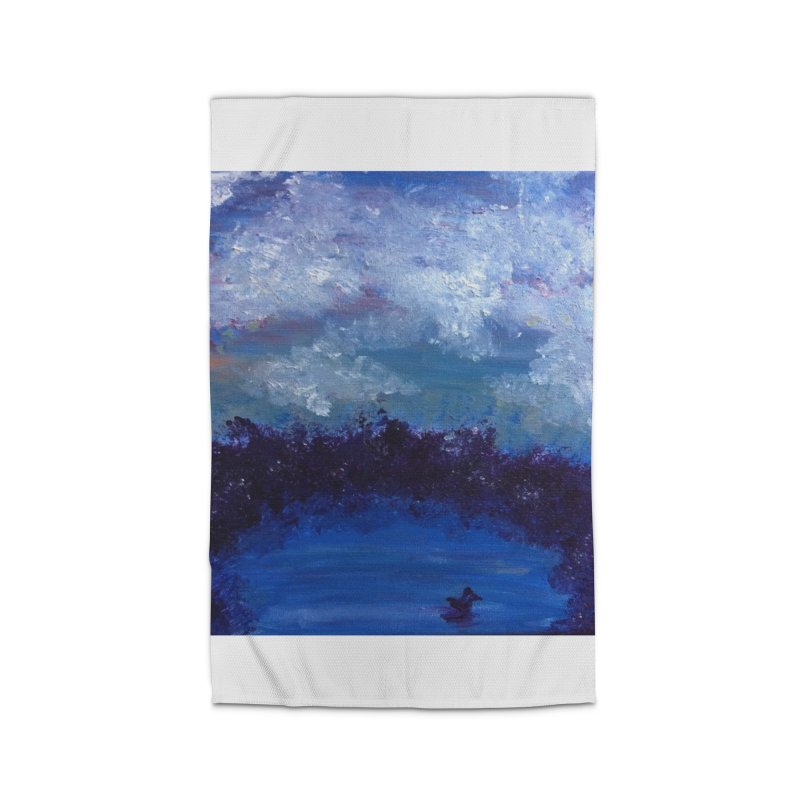 Midnight Lake Home Rug by deannakei's Artist Shop