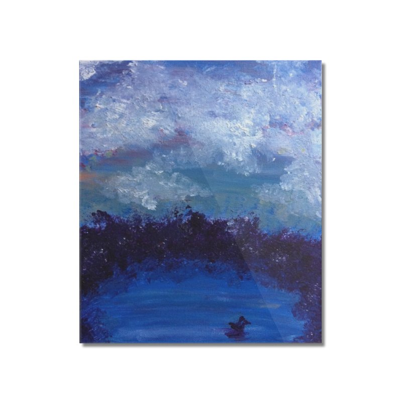 Midnight Lake Home Mounted Acrylic Print by deannakei's Artist Shop