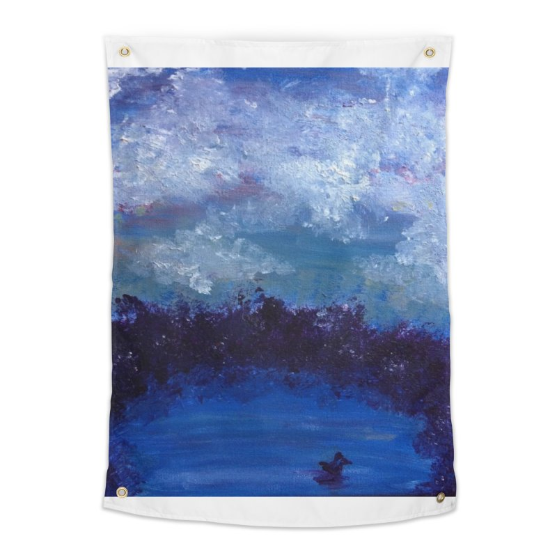Midnight Lake Home Tapestry by deannakei's Artist Shop
