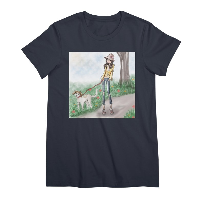 A walk in the Park Women's Premium T-Shirt by deannakei's Artist Shop