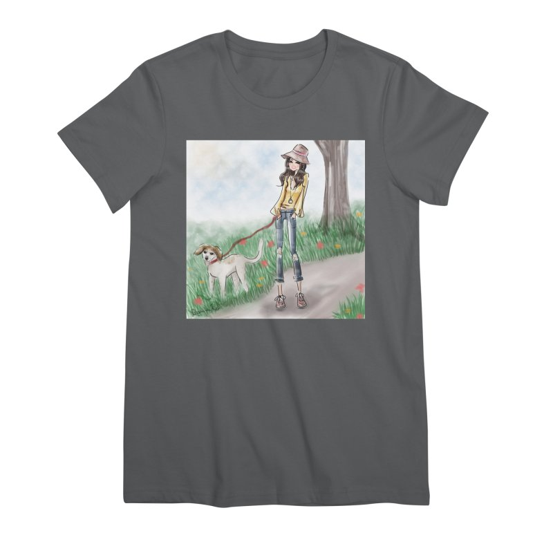 A walk in the Park Women's Premium T-Shirt by deannakei's Artist Shop