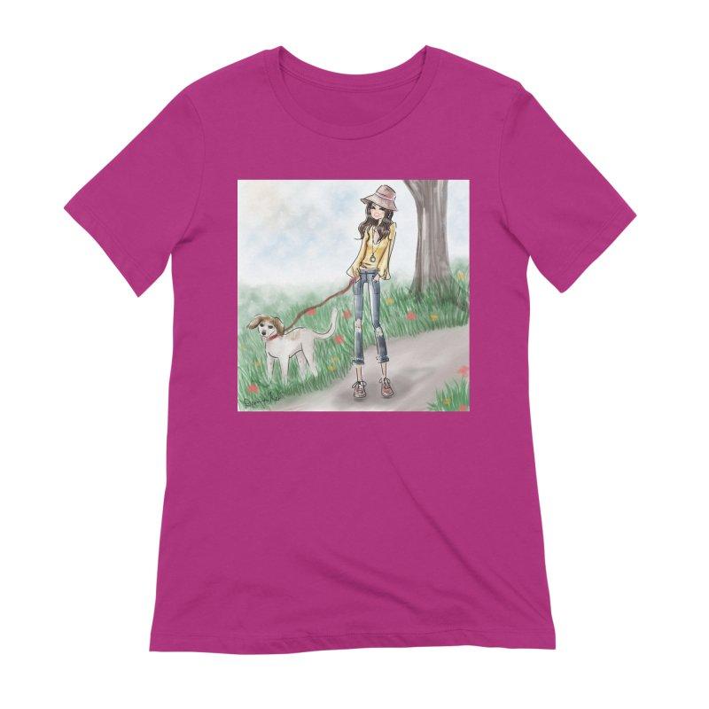 A walk in the Park Women's Extra Soft T-Shirt by deannakei's Artist Shop