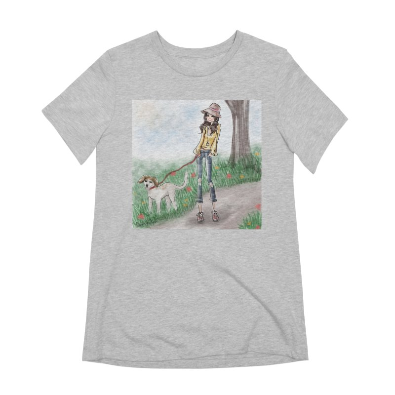 A walk in the Park Women's Extra Soft T-Shirt by deannakei's Artist Shop