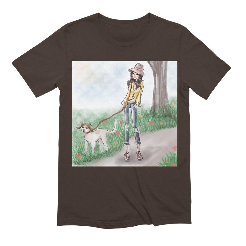 A walk in the Park Men's Extra Soft T-Shirt by deannakei's Artist Shop